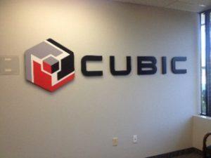 Cubic 3-D Lobby Sign