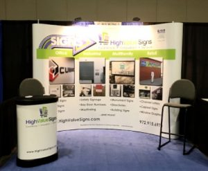 High Value Signs Trade Show Display