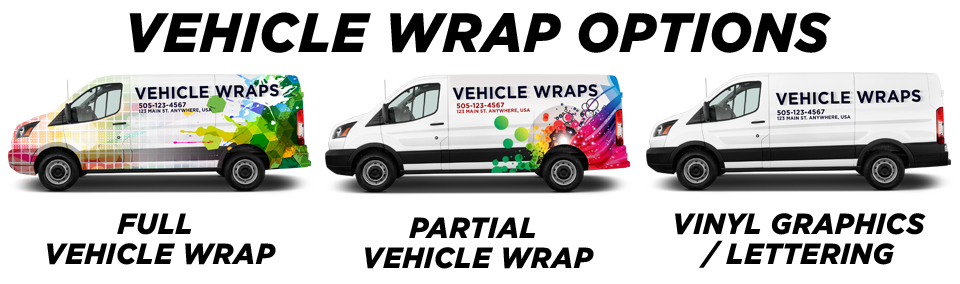 Lewisville Vehicle Wraps vehicle wrap options