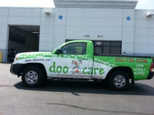 Doo Care Drivers Complete Custom Truck Wrap in Green